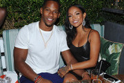Victor Cruz and Karrueche Tran attend the Republic Records VMA After-Party at Catch on August 20, 2018 in New York City.