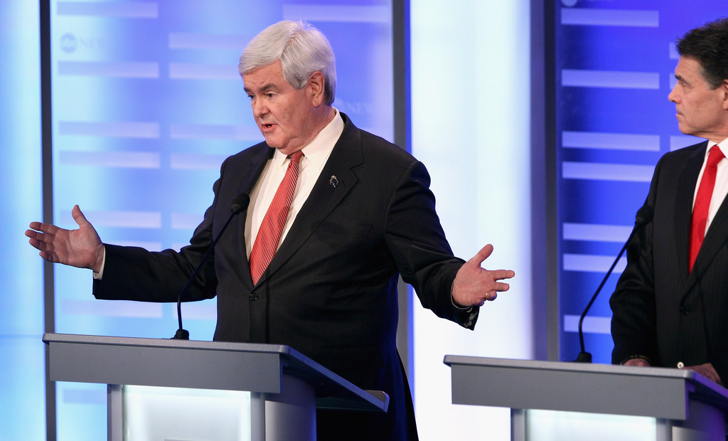 newt gingrich pictures   republican debate held at st