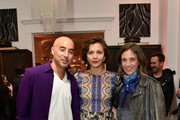 Maggie Gyllenhaal (C) with Host Committee Members Max Osterweis and Erin Beatty attend the unveiling of RH Modern at RH New York, The Gallery in the Historic Flatiron District on October 22, 2015 in New York City.