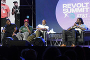 """Pierre """"Pee"""" Thomas, Lil Yachty, Kevin """"Coach K"""" Lee, and 2 Chainz speak onstage during day 2 of REVOLT Summit x AT&T Summit on September 13, 2019 in Atlanta, Georgia."""