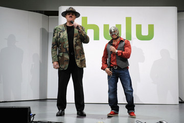 Rey Mysterio Celebs at the Hulu Upfront Event in NYC 2