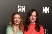 (L-R) Ursula Karven and Natalia Woerner attend the Riani show during Berlin Fashion Week Autumn/Winter 2020 at Kraftwerk Mitte on January 15, 2020 in Berlin, Germany.