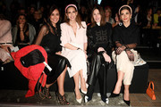 (L-R) Jana Ina Zarrella, Alexandra Lapp, Annette Weber and Nadine Warmuth attend the Riani show during Berlin Fashion Week Autumn/Winter 2020 at Kraftwerk Mitte on January 15, 2020 in Berlin, Germany.