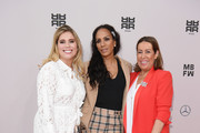 (L-R) Mona Buckenmaier, Barbara Becker and Martina Buckenmaier attend the Riani show during the Berlin Fashion Week Spring/Summer 2020 at ewerk on July 03, 2019 in Berlin, Germany.