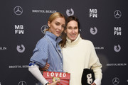 Viktoria Rader and Annette Weber attend the Riani show during the MBFW Berlin January 2018 at ewerk on January 16, 2018 in Berlin, Germany.