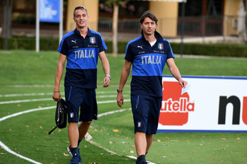 Riccardo Montolivo Italy Training Session And Press Conference