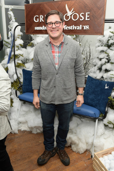 "Grey Goose Hosted ""A Kid Like Jake"" Pre-Party at Sundance Film Festival 2018 [outerwear,eyewear,footwear,jeans,wool,winter,shoe,sweater,t-shirt,suit,rich sommer,a kid like jake pre-party,the grey goose blue door,utah,park city,grey goose,sundance film festival,pre-party]"