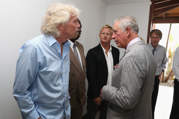 Richard Branson The Prince of Wales Visits The Caribbean - Day 2