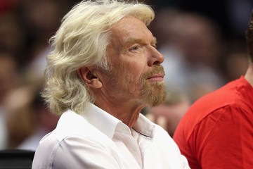 Richard Branson Atlanta Hawks v Chicago Bulls