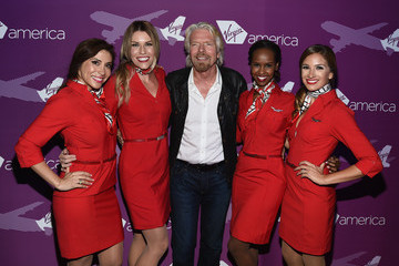 Richard Branson Virgin America Dallas Love Field Launch Celebration
