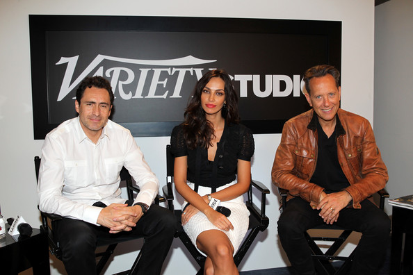 Celebs at Toronto's Variety Studio  [fashion,event,fashion design,brand,sitting,celebs,demian bichir,madalina ghenea,richard e. grant,toronto,variety studio,canada,holt renfrew,moroccanoil,toronto international film festival]