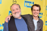 "Director Louis Black (L) and actor Ellar Coltrane attend the screening of ""Richard Linklater - Dream Is Destiny"" during the 2016 SXSW Music, Film + Interactive Festival at Paramount Theatre on March 12, 2016 in Austin, Texas."