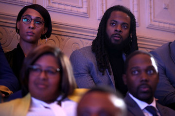Richard Sherman Barack Obama Attends My Brother's Keeper's Alliance First National Gathering MBK Rising! In Oakland