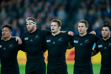 Richie Mccaw Keven Mealamu New Zealand v Namibia - Group C: Rugby World Cup 2015