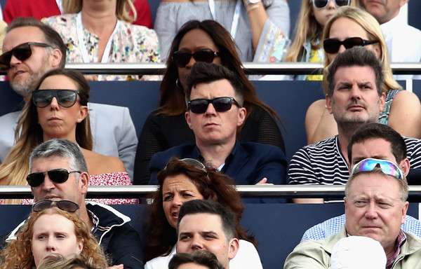 Aegon Championships - Day Seven [eyewear,people,facial expression,sunglasses,crowd,facial hair,glasses,event,fan,fun,spain,marin cilic,croatia,queens club,aegon championships,singer,song-writer,mens,rick astley,feliciano lopez]