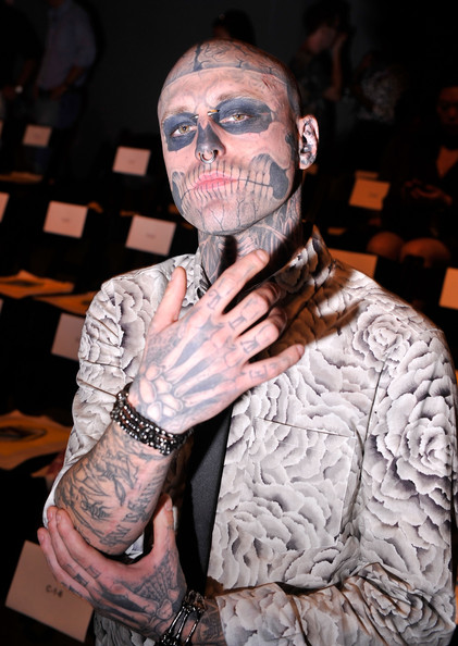Rick Genest Rick 'Zombie Boy' Genest attends the Timo Weiland Spring ...