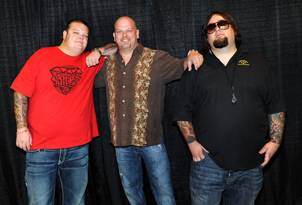 "Rick Harrison (L-R) Corey ""Big Hoss"" Harrison, Rick Harrison and"