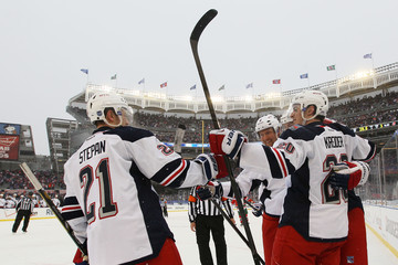 Rick Nash Chris Kreider 2014 Coors Light NHL Stadium Series - New York Rangers v New Jersey Devils