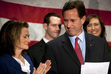 Karen Santorum Rick Santorum Suspends His Presidential Campaign