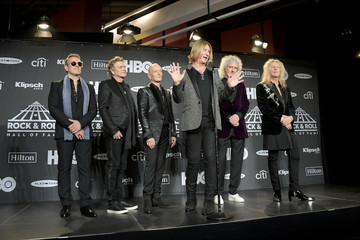 Rick Savage 2019 Rock & Roll Hall Of Fame Induction Ceremony - Press Room