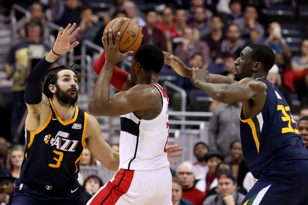 58eb4e3af Ricky Rubio and John Wall Photos Photos - Utah Jazz v Washington ...