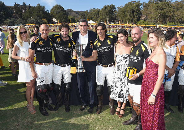 Fifth-Annual Veuve Clicquot Polo Classic, Los Angeles [people,social group,event,community,team,crowd,fun,recreation,polo,nacho figueras,tom barrack,president,players,rico mansur,jean-marc gallot,l-r,los angeles,veuve clicquot polo classic]