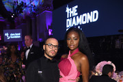 Richie Akiva (L) and Justine Skye attend Rihanna's 4th Annual Diamond Ball benefitting The Clara Lionel Foundation at Cipriani Wall Street on September 13, 2018 in New York City.