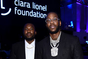 Meek Mill (L) and 2 Chainz attends Rihanna's 5th Annual Diamond Ball Benefitting The Clara Lionel Foundation at Cipriani Wall Street on September 12, 2019 in New York City.