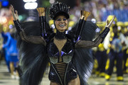 Queen of Percussion Sabrina Sato of Unidos de Vila Isabel performs during the parade at 2019 Brazilian Carnival at Sapucai Sambadrome on March 04, 2019 in Rio de Janeiro, Brazil. Rio's two nights of Carnival parades began on March 03 in a burst of fireworks and to the cheers of thousands of tourists and locals who have previously enjoyed street celebrations (known as 'blocos de rua') all around the city.