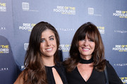 (L-R) Louise Michelle and Vicki Michelle arriving at the UK Premiere of 'Rise of the Footsoldier 3: The Pat Tate Story' at Cineworld Leicester Square on October 26, 2017 in London, England.