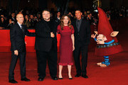 Jeffrey Katzenberg, executive producer Guillermo del Toro,  producer Christina Steinberg and director Peter Ramsey attend 'Rise Of The Guardians' Premiere during The 7th Rome Film Festival at Auditorium Parco Della Musica on November 13, 2012 in Rome, Italy.