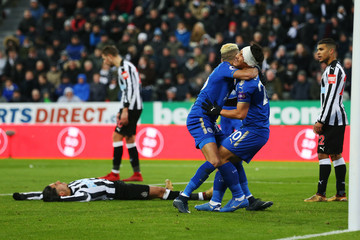 Riyad Mahrez Newcastle United v Leicester City - Premier League