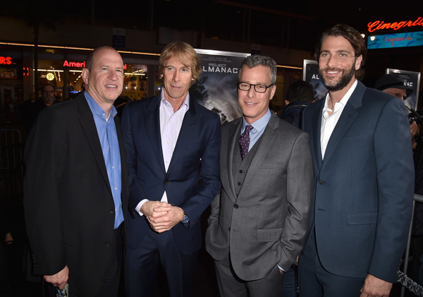 'Project Almanac' Premieres in Hollywood [project almanac,red carpet,event,suit,white-collar worker,businessperson,premiere,producers,vice chairman,brad fuller,michael bay,l-r,paramount pictures,premiere,premiere]