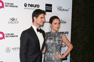 Robbie Amell Arrivals at the Elton John AIDS Foundation Oscars Viewing Party — Part 4