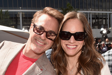 """Robert Downey Jr. Susan Downey Marvel Studios' """"Avengers: Endgame"""" Stars Place Handprints In Cement At TCL Chinese Theatre"""