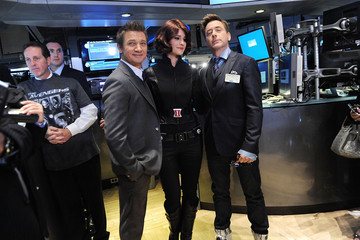 Robert Downey 'Avengers' Stars Robert Downey Jr. and Jeremy Renner Ring The NYSE Opening Bell