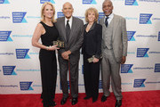 (L-R) Kerry Kennedy, Harry Belafonte, Pamela Frank and Danny Glover attend Robert F. Kennedy Human Rights Hosts Annual Ripple Of Hope Awards Dinner on December 13, 2017 in New York City.