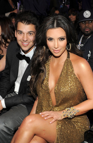 Robert Kardashian Jr. TV Personalities Rob and Kim Kardashian attend The 53rd Annual GRAMMY Awards held at Staples Center on February 13, 2011 in Los Angeles, California.
