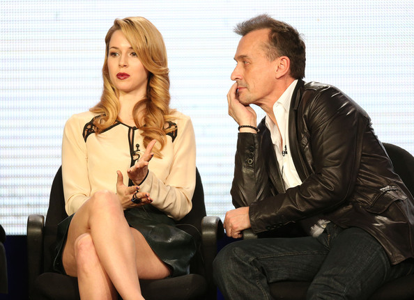 2013 Winter TCA Tour - Day 10 [cult,sitting,fashion,human,conversation,event,photography,suit,leather,white-collar worker,businessperson,winter tca,alona tal,robert knepper,langham huntington hotel spa,pasadena,california,l,cw network,portion]
