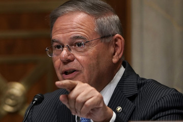 Robert Menendez Secretary Of State Mike Pompeo Testifies To Senate Foreign Relations Hearing