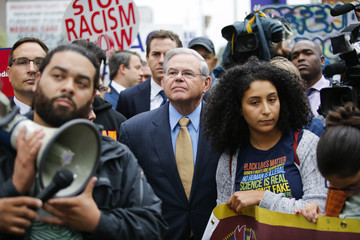 Robert Menendez Activists Hold Rally Against President Trump's Decision to End DACA