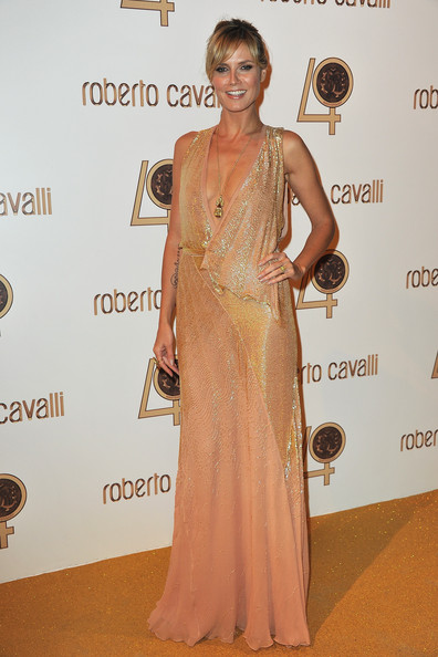 Heidi Klum attends the Roberto Cavalli party at Les Beaux-Arts de Paris as part of the Paris Fashion Week Ready To Wear S/S 2011 on September 29, 2010 in Paris, France.