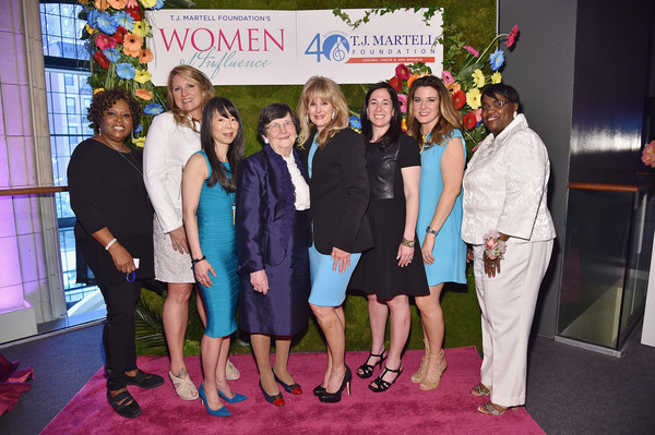 T.J. Martell Foundation's Women of Influence Awards - Arrivals [event,red,social group,yellow,youth,community,carpet,red carpet,flooring,adaptation,ceo,arrivals,radio personalities,elaine turner,executive vice president,cfo,martell foundations women of influence awards,l-r,t.j.,strivectin oeratin company inc.]