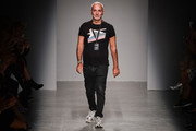 Alessandro Dell'Acqua walks the runway during the Rochas show as part of the Paris Fashion Week Womenswear Spring/Summer 2017 on September 28, 2016 in Paris, France.