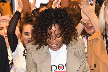 Rochelle Humes Oxford Street New Look Flagship Store Opening - Photocall