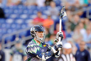 Joe Walters #1 of the Chesapeake Bayhawks passes the ball during a Major League Lacrosse game against the Rochester Rattlers on July 17, 2014 at Navy-Marine Corps Memorial Stadium in Annapolis, Maryland.