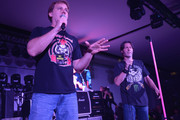 Jim Florentine and Don Jamieson attend the Rock N' Roll Heaven And Old Bridge Metal Militia Reunion & Superstorm Sandy Benefit Concert at the Encore Event Center on May 11, 2013 in Freehold, New Jersey.