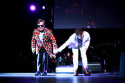 Elton John and Taron Egerton perform together during Rocketman: Live in Concert at the Greek Theatre in Los Angeles on October 17, 2019.