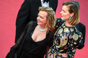 """Eva Herzigova and Caroline Scheufele attends the screening of """"Rocket Man"""" during the 72nd annual Cannes Film Festival on May 16, 2019 in Cannes, France."""
