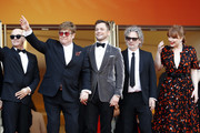 "Bernie Taupin, Sir Elton John, Taron Egerton, Dexter Fletcher and Bryce Dallas Howard attends the screening of ""Rocket Man"" during the 72nd annual Cannes Film Festival on May 16, 2019 in Cannes, France."